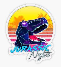JURASSIC NIGHTS - Miami Vice Vapor Synthwave T-Rex Transparent Sticker