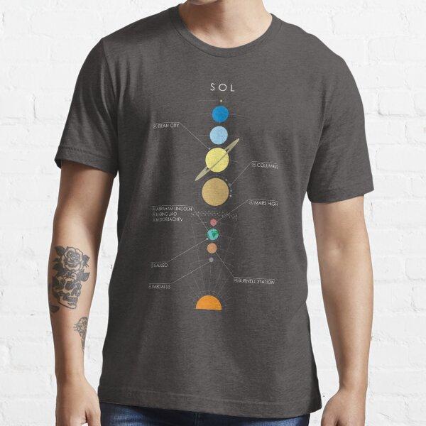 Star System Minimal E: D Graphic [Sol - Etiquetado] Camiseta esencial