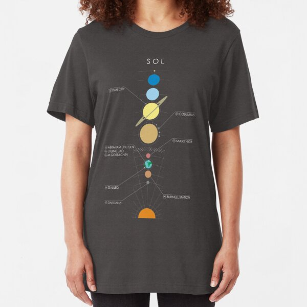 Star System Minimal E:D Graphic [Sol - Labelled] Slim Fit T-Shirt