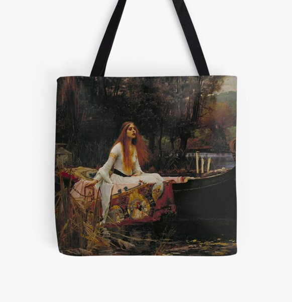 The Lady of Shalott -  John William Waterhouse All Over Print Tote Bag