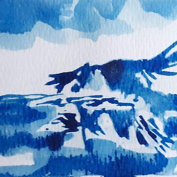 Watercolor Blue Jay by imye