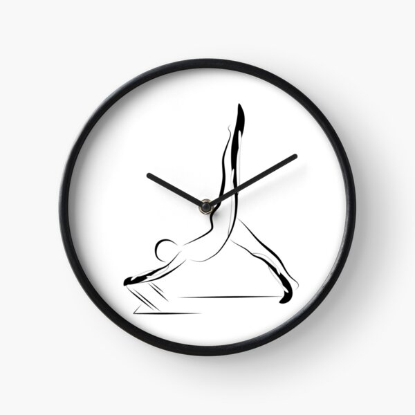 Pilates pose 5 Clock