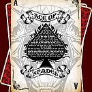 The Ace of Spades - Cards by Happy-Llama-Art