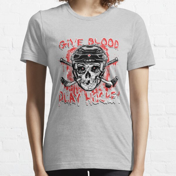 Give Blood Play Hockey Essential T-Shirt