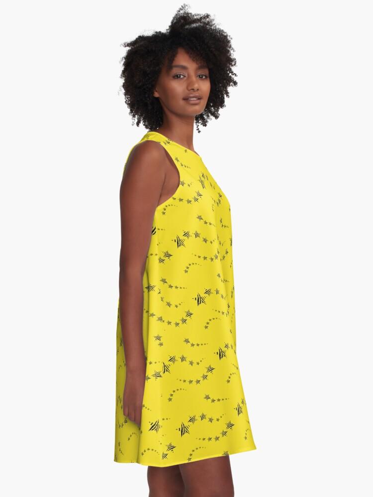 Alternate view of Lemon shooting stars A-Line Dress
