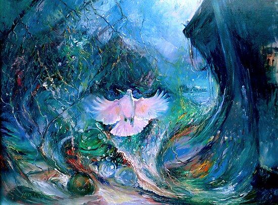 Genesis Flood Dove by Tanya Zaadstra