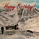 Scottish Highlands Birthday Card by EuniceWilkie