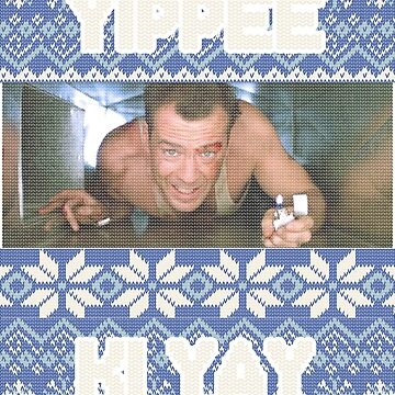 Yippee Ki Yay Ugly Christmas or Hannakuh Sweater Die Hard Tribute by ThatSplat