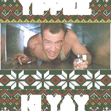 Yippee Ki Yay Ugly Christmas Sweater Die Hard Tribute by ThatSplat