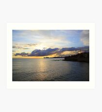 Sunset over Capo Caccia, Alghero, Sardinia (Italy)  Art Print