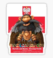 Bartek and Barta the Swamp Trolls Sticker