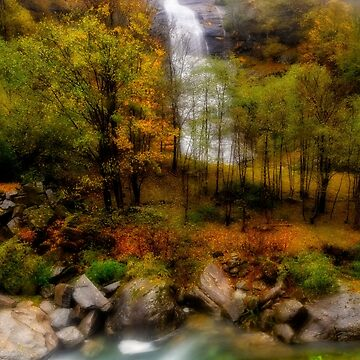 Waterfall and mountain stream by birba