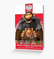 Bartek and Barta the Swamp Trolls Greeting Card