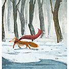 Red scarf fox von Regenassart
