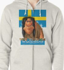 Old Agda the Pitbog Troll form Sweeden Zipped Hoodie