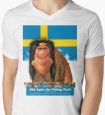 Old Agda the Pitbog Troll form Sweeden Men's V-Neck T-Shirt