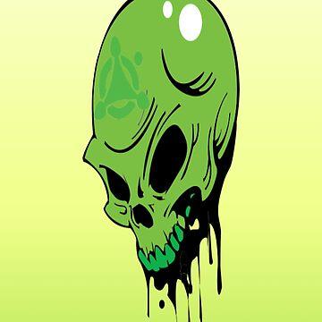 Toxic Skull by JenBoyte