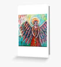 She is the gatherer of hearts Greeting Card