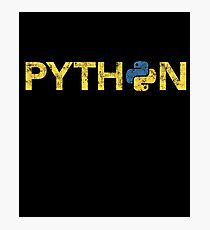 Python Programmer Retro Style  Photographic Print