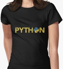 Python Programmer Retro Style  Women's Fitted T-Shirt