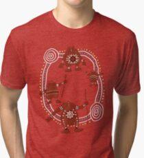 Rock Troll Art Tri-blend T-Shirt