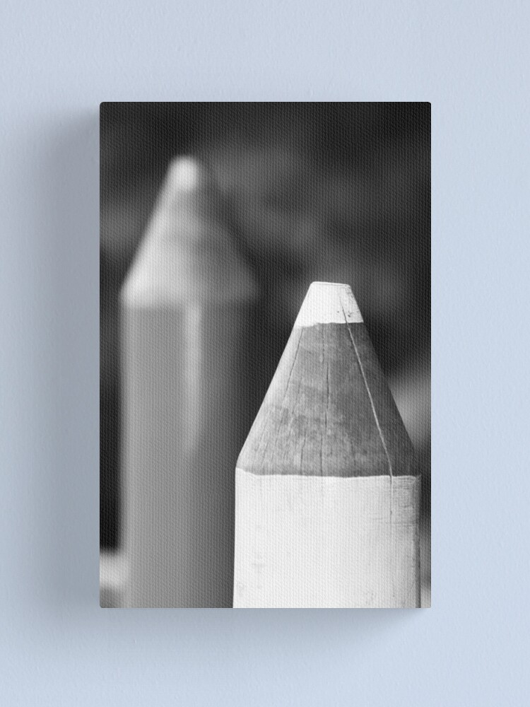 Alternate view of Black & White Pencils Canvas Print