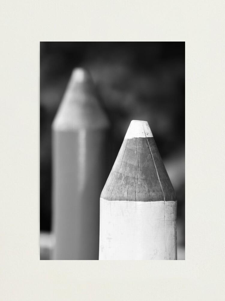 Alternate view of Black & White Pencils Photographic Print