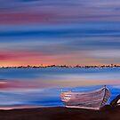 Sunset Pelican Boat by caroline ellis