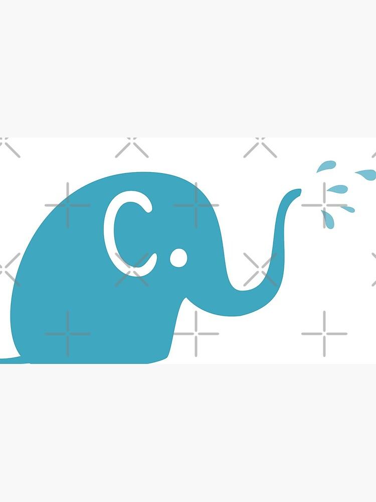 Azurblaue Elefanten Parade von missdaisydee