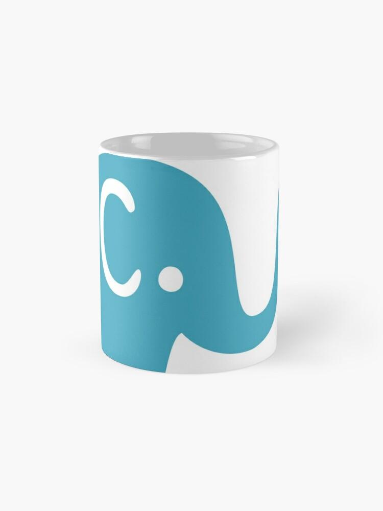 Alternative Ansicht von Azurblaue Elefanten Parade Tasse