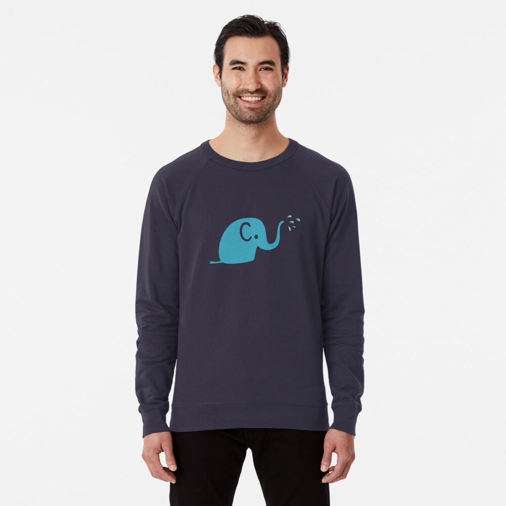 Azurblaue Elefanten Parade Leichter Pullover