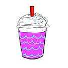 Cute Frappe Iced Drink Design by katdensetsu
