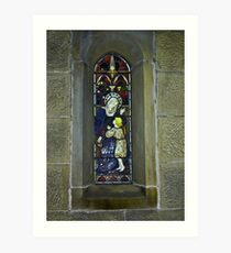 Window #3 - East Witton Church. Art Print