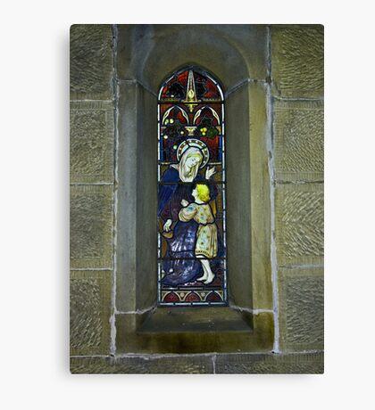 Window #3 - East Witton Church. Canvas Print
