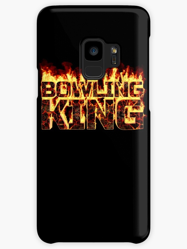 Flame Bowling Shirt - Burning Bowling King Lava Style by proeinstein
