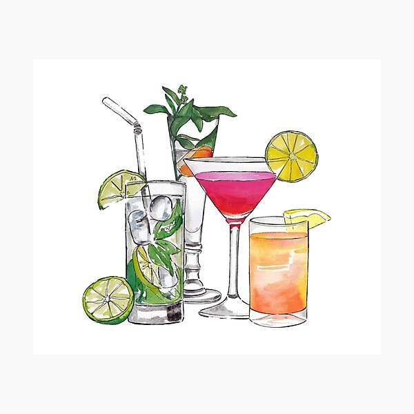 Alcohol Drinks Tapestry Photographic Print
