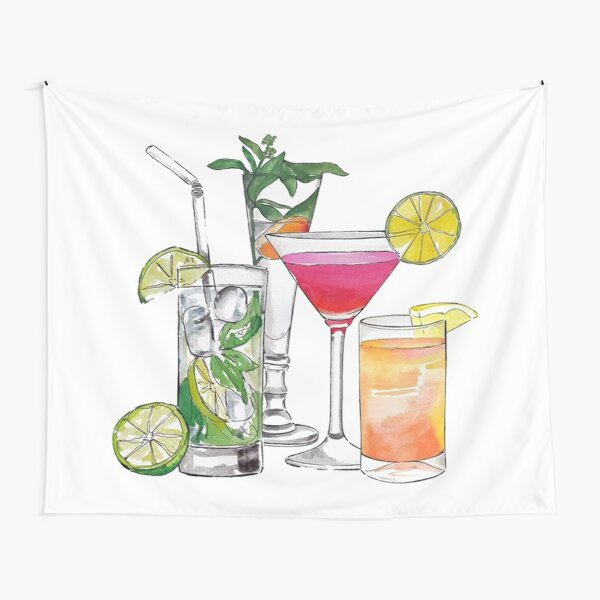 Alcohol Drinks Tapestry Tapestry