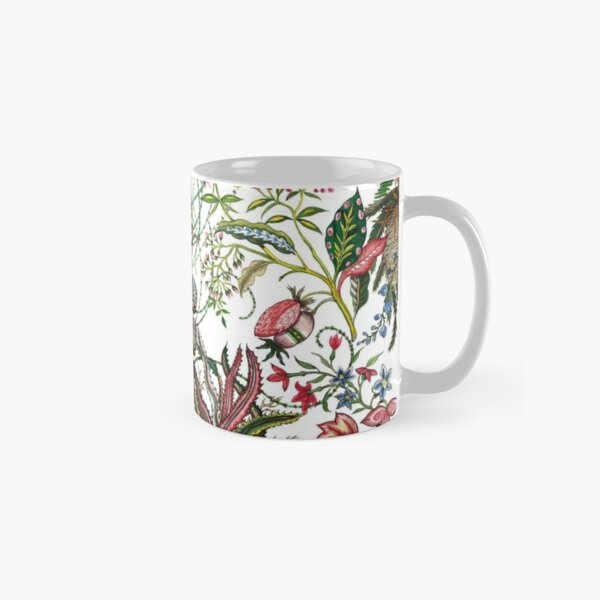 Design created by Stephen Bowers after late 18th-century water-colour and block prints of fleurs tropicales et palmiers for toile de Jouy Classic Mug