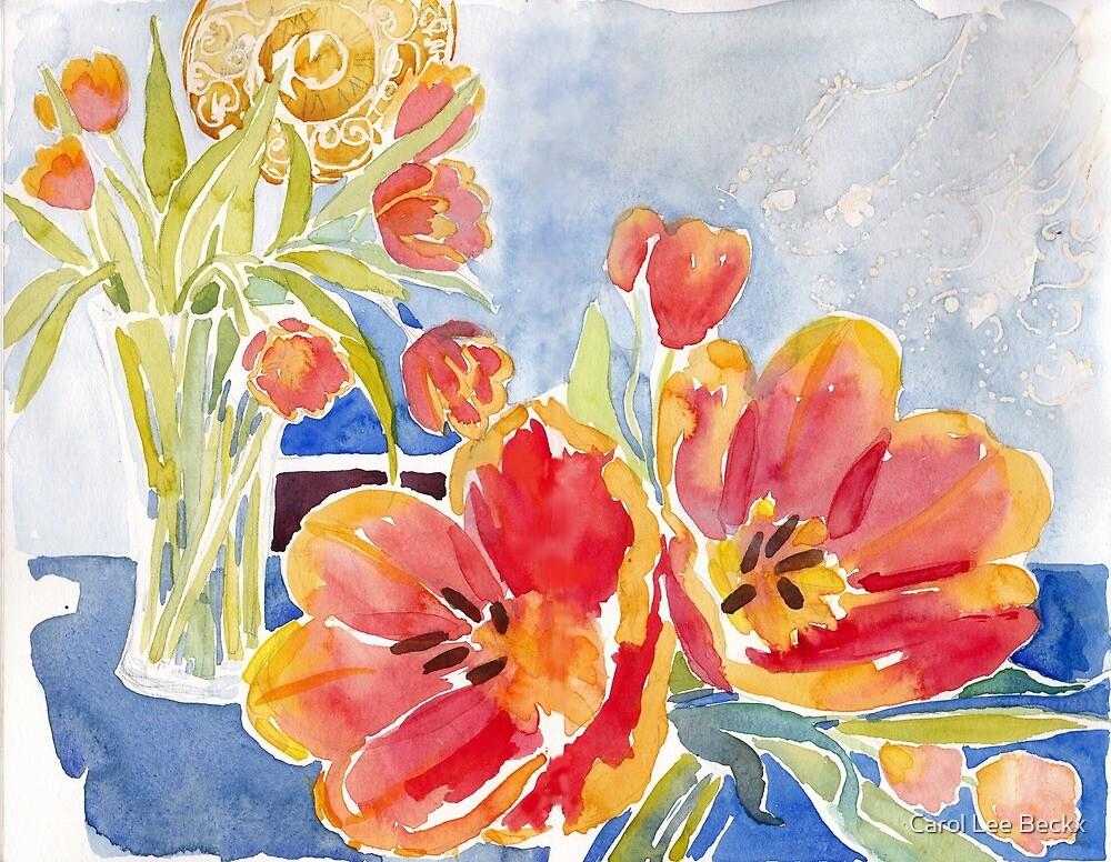 Tulips at Deja Bru by Carol Lee Beckx