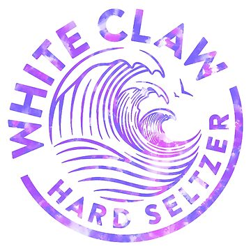 Purple Watercolor White Claw Tapestry by livpaigedesigns