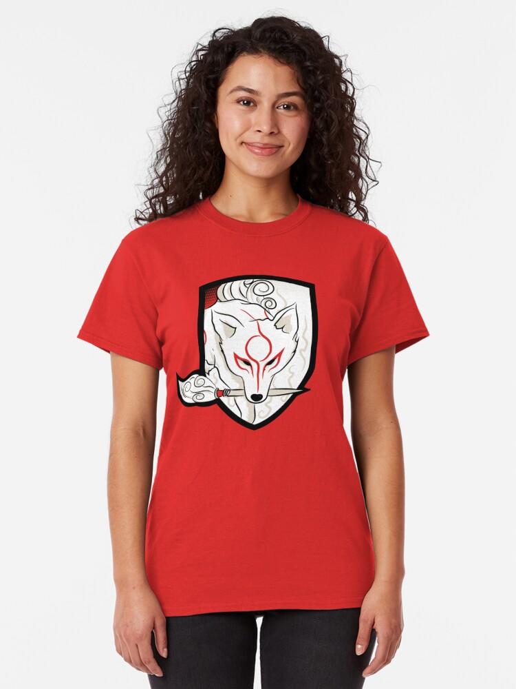 Alternate view of God Hound / Okami Classic T-Shirt