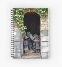 Terracotta Graveyard Spiral Notebook