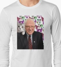 Subtle Bernie Sanders Print Long Sleeve T-Shirt