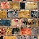 Multi-Colored Brick Wall Decorative Pattern by taiche