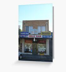 Milkbar, Laverton Greeting Card