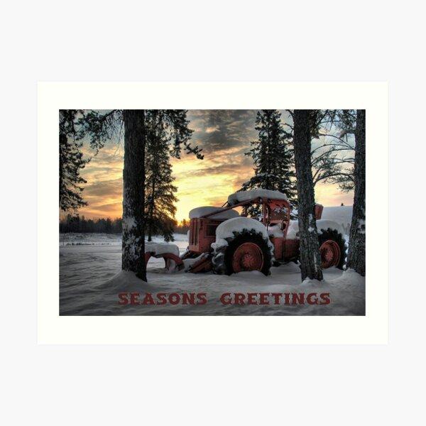 Christmas Card Skidder Sunrise Art Print