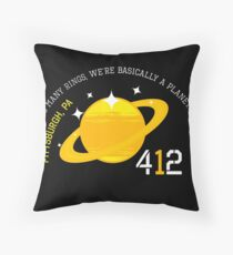 So Many Rings We Should Be A Planet - Planet Pittsburgh Design Throw Pillow