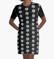 Gardenia-Blume T-Shirt Kleid