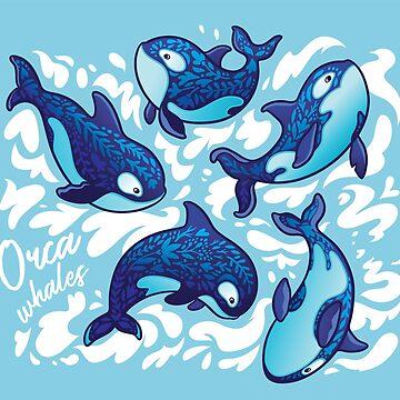 Orca whales by PenguinHouse