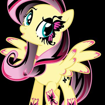 Goth Fluttershy by Jebus13